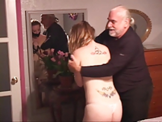 Daddy Daughter Old and Young Tattoo Teen