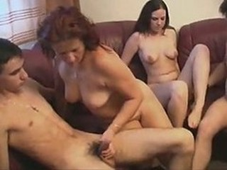 Mom Son Dad And Daughter Having Incest Family..