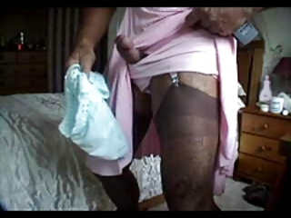 wanking in my nylon slips