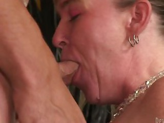 Mature bitch Bethany blows and gets..