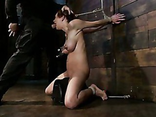 Extreme nipple torment, brutal gag, a..