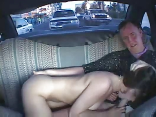 Amateur Blowjob Car Old and Young Public Teen