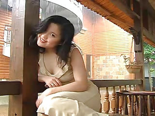 Asian Babe Cute Outdoor