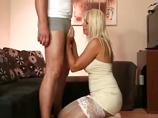 Blonde Chubby European German  Stockings