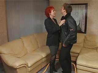 Red Haired Granny Is A Red Hot Fuck !