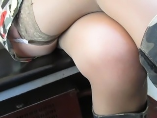 She keeps ticket in her stockings