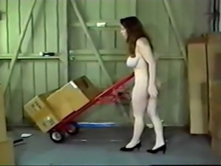 Classic Big Jugs Jordan Fucks In Warehouse