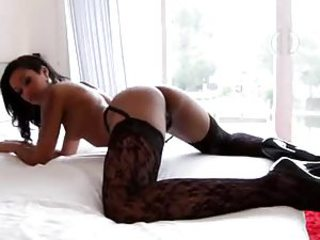 Sexy tattooed slut more gorgeous black stockings