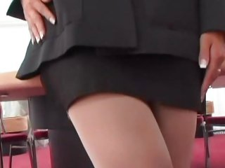 Secretary Daria Glower gets to business on this cock
