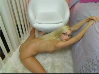 Blonde Flexible Glasses Teen Webcam