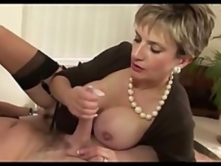 Amazing Big Tits Handjob  Stockings