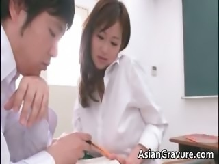 Sexy and horny asian teacher shows her part5