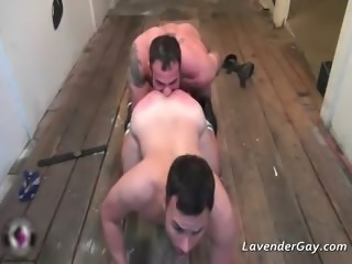 Kinky BDSM gay scene with spanking part2