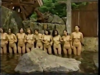 Asian Erotic Japanese Nudist Outdoor Pool
