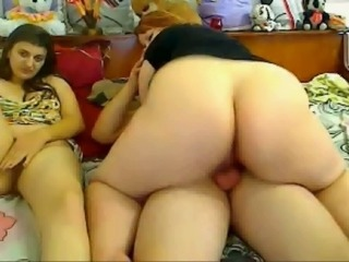 Ass  Girlfriend Riding Threesome Webcam