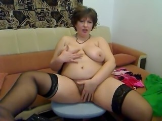 Chubby Hairy Masturbating  Natural  Stockings Webcam