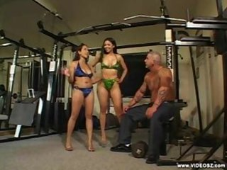 Amazing Asian Big Tits Bikini Interracial  Sport Threesome