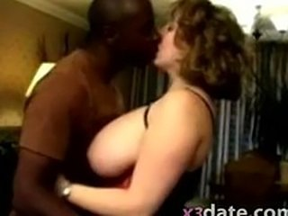 Amateur Big Tits Interracial Kissing  Natural Wife