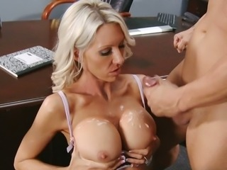 Amazing Big Tits Cumshot  Nipples Office Secretary