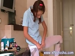 Kitchen Pantyhose Russian Skinny Teen