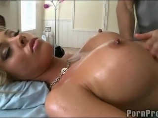 Big Tits Massage  Nipples Silicone Tits
