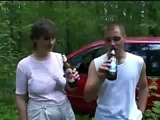 Amateur Car Chubby Drunk Mature Old and Young Outdoor