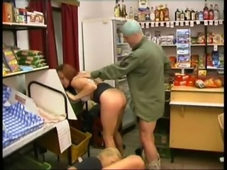 Cashier together with Customer Fucked in Store free