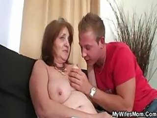 Mother in law takes a shower and he decides to fuck her hard