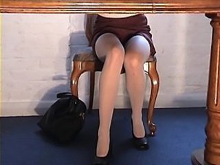 White stockings upskirt