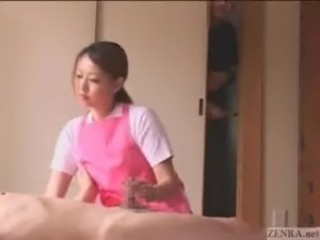 Asian  Handjob Japanese  Small cock Voyeur