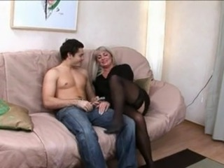 Milf Russian with a young cock