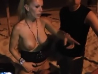 German blonde dogging on the beach