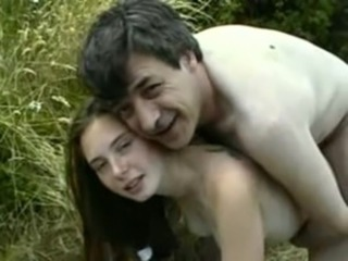 Daddy Daughter Doggystyle Old and Young Outdoor Teen