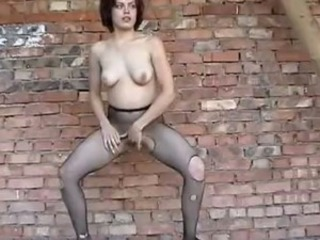 Babe Masturbating Outdoor Pantyhose Solo