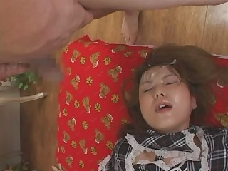 Asian Bukkake Cumshot Facial Teen
