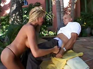 Tight Blonde Gets Fucked Outdoors