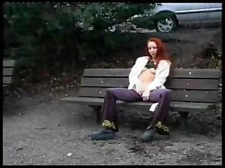 Masturbating Outdoor Public Redhead Teen