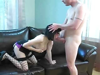 Blowjob Fishnet Goth Teen