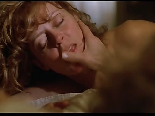 Celebrities classic Susan Sarandon and James Spader - snake
