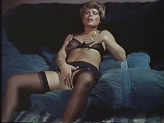 Lingerie Masturbating  Stockings Vintage