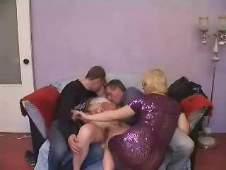 Young Couple And Older Couple Swinger Action