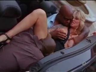 Interracial threesome with busty milf