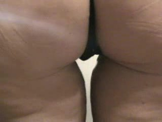 Chubby mature ass in a thong