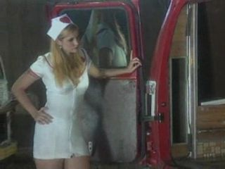 Blond nurse banging