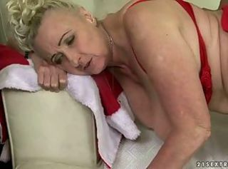 Busty grandma gets banged