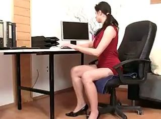 Pantyhose Secretary Teen