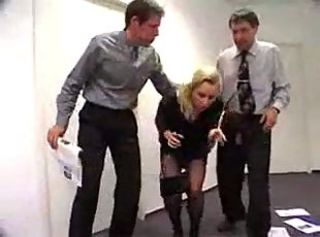 Forced  Office Secretary Threesome