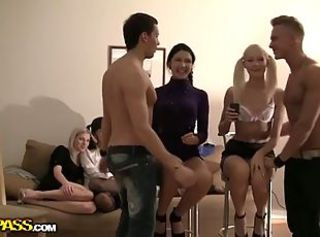 Crazy students' group orgy