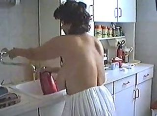 Woman with BIG Ass and Boobs Cleaning the House  Mature