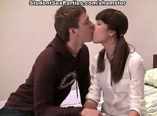 Amateur Kissing Pigtail Teen